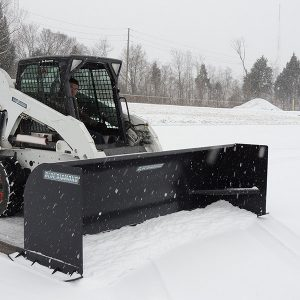 Skid Steer Snow Plow / Snow Pusher Attachment