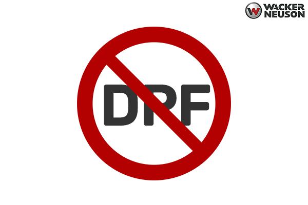 Wacker Skid Steers have No DPF (Diesel Particulate Filter) / No Regeneration