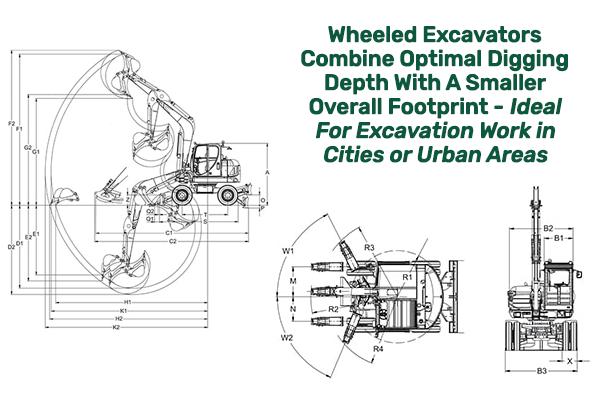 Wheeled Excavators Have a Smaller Footprint