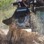Stump grinder attachment for skid steers