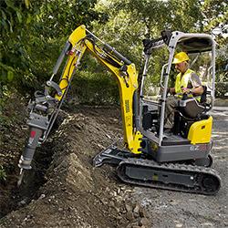 Excavator Rentals for Hardscaping