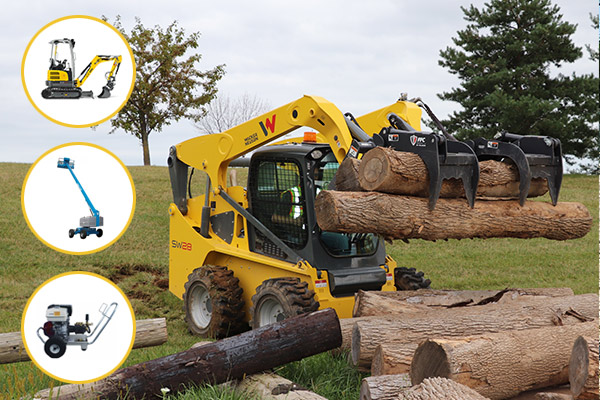 Landscaping equipment rentals for fall clean up jobs